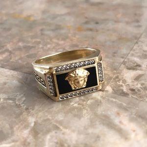 Men's Medusa Head 10K Gold Ring